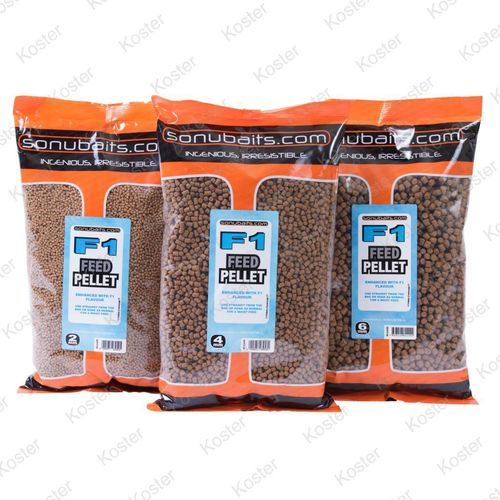 Sonubaits Feed Pellet F1  4mm 900gr