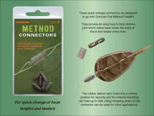 Drennan method connectors 6stuks