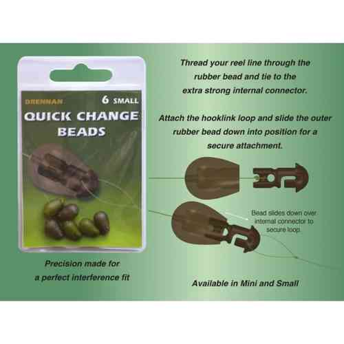 Drennan quick change beads small 6 stuks