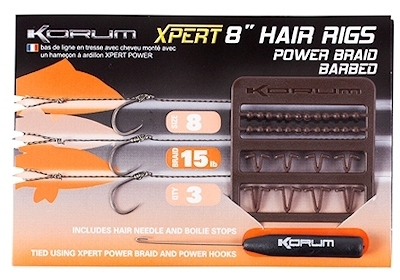 Korum power braid hair rig barbed size 10