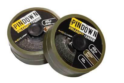 avid carp unleaded leader weed/silt 45lb
