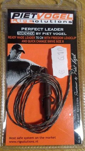 Rig Solution Ready made leader 90 cm whith freedom leadclip