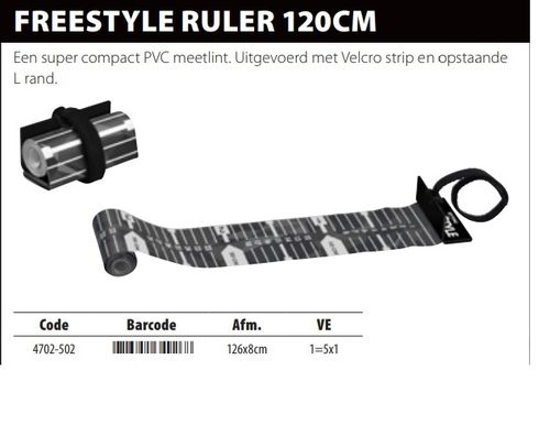 Freestyle Ruler 120cm 1260 x 80 mm