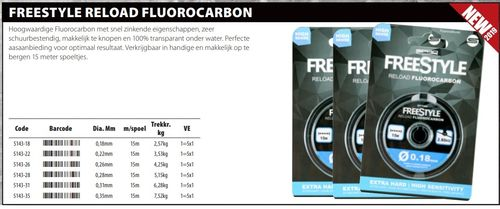 Freestyle fluor carbon 0,28mm 5,15 kg 15 meter