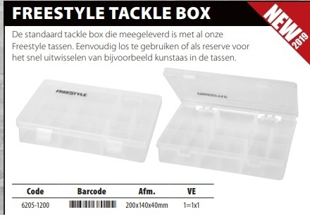 Freestyle tackle box 200x14x40mm