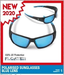Preston Polarised Sunglasses - Blue Lens - Floater