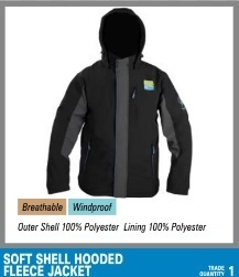 Preston Soft Shell Hooded Fleece Jacket M