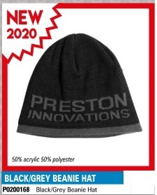 Preston Black / Grey Beanie Hat