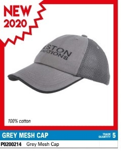 Preston Grey Mesh Cap